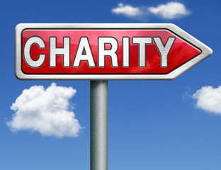 charity road sign arrow