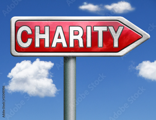 charity road sign arrow