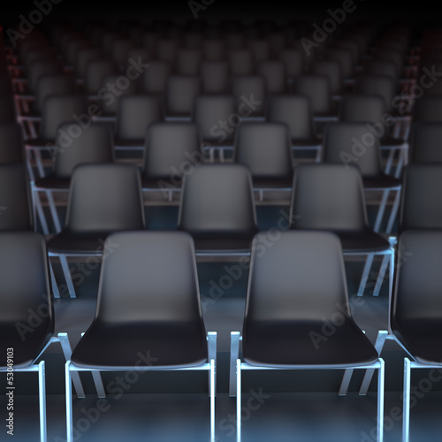 Rows of black seats
