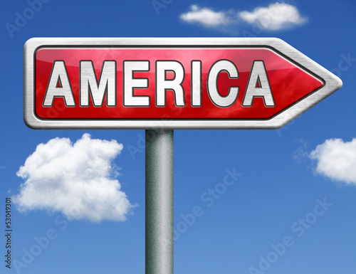 America road sign arrow