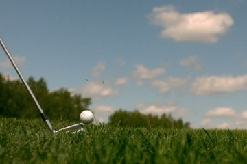 Golf Super Slow Motion Grass lay-up Shot 10000 fps shot 2