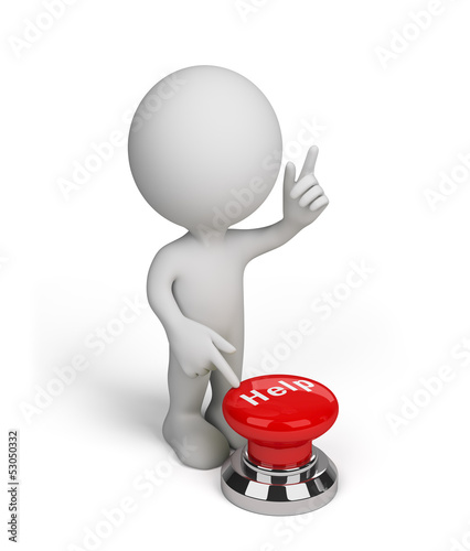 3d person with a Help button