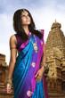 Beautiful Indian girl in traditional Indian sari