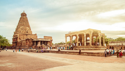 Brihadeeswarar Temple in Thanjavur, Tamil Nadu, India