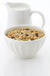 Delicious and healthy muesli cereal