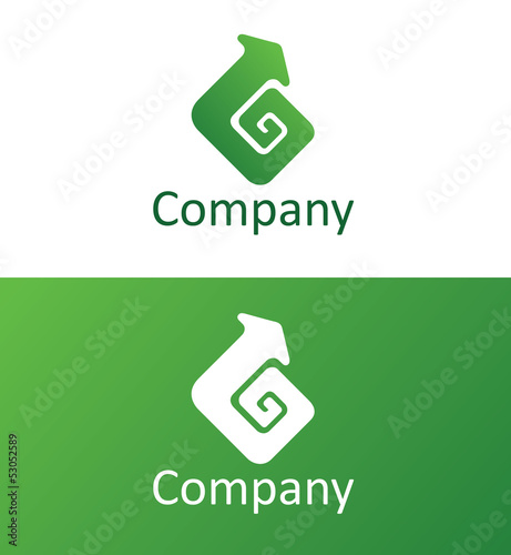 Логотип со стрелкой/ Logo with arrow