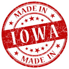 made in iowa red stamp