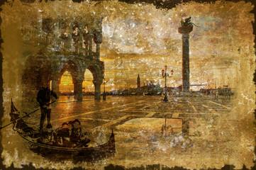 Venezia - Old Vintage Postcard