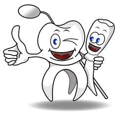 Denti che strizzano l'occhio