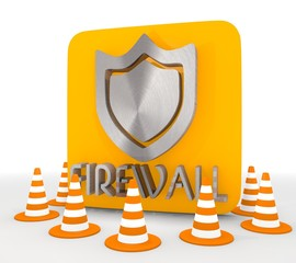 Illustration of a decorative firewall icon