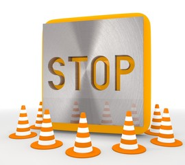 Illustration of a decorative stop icon