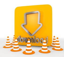 Illustration of a isolated download icon