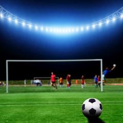 soccer gamers on the stadium