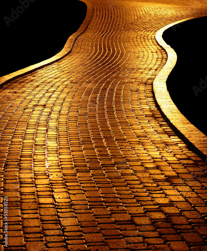 Leinwandbild Motiv Golden path