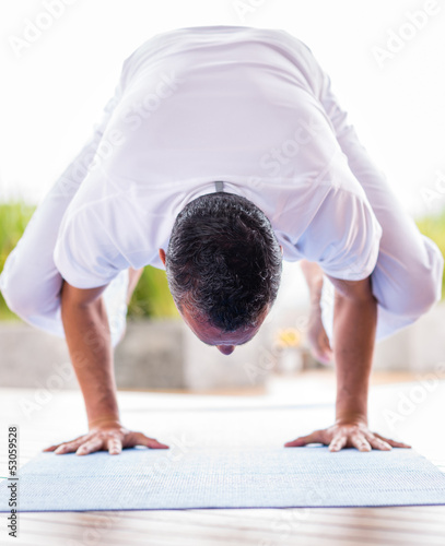 Yoga man meditating