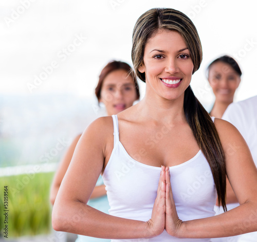 Female yoga instuctor