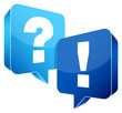 Speech Bubbles Question & Answer Blue