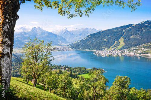 Beautiful landscape with Alps and lake, Zell am See, Austria