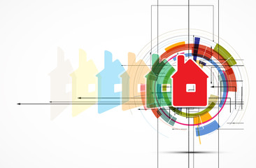 real estate city circuit mirror business background