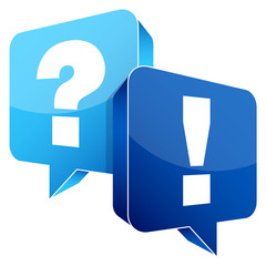Question & Answer Blue Speechbubbles