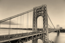 George Washington Bridge en noir et blanc
