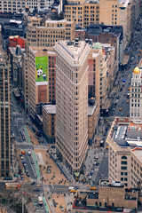 Flatiron Building in downtown Manhattan New York City