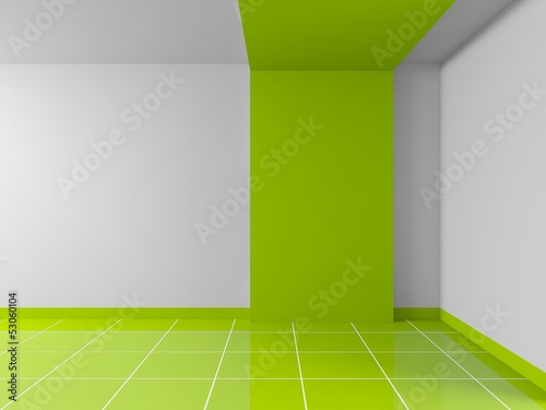 empty green interior
