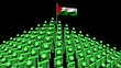 pyramid of men with rippling Western Sahara flag animation