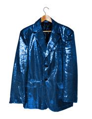 blue sequin jacket
