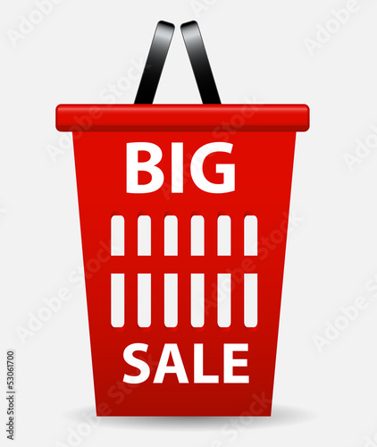 Big sale sign, label template