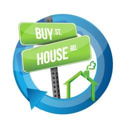 buy house real estate road symbol
