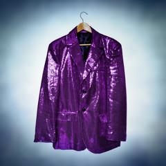 purple sequined jacket