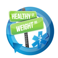 healthy weight road symbol illustration design