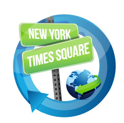 New York, Times square road symbol illustration