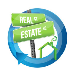 real estate road symbol illustration design