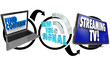 Stream TV Content From Internet Computer to HDTV Television