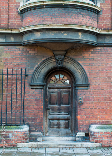A gothic arched door from Cambridge in the united kingdom