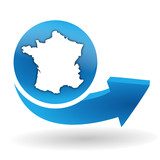 made in france sur bouton web bleu