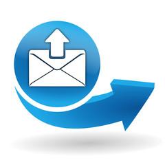 envoyer un message sur bouton web bleu