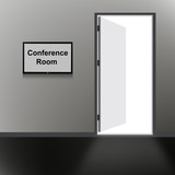 Open Door with Conference room text