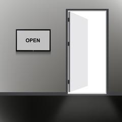 Open Door with open text