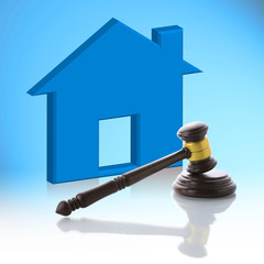 Judge gavel, Real Estate Auction