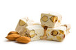 white nougat with almonds - 53065959