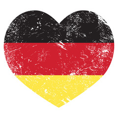 Germany heart shaped retro flag