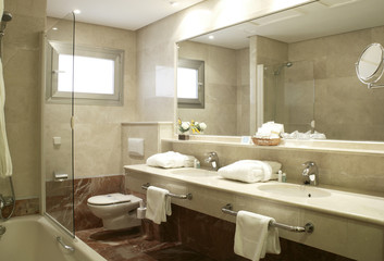 Bathroom at Hotel Suite