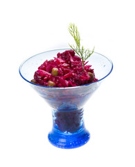 Vinaigrette Russian beetroot salad