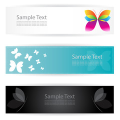 Vector image of an butterfly banners .