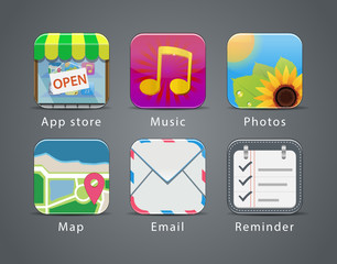 Apps icon set 1