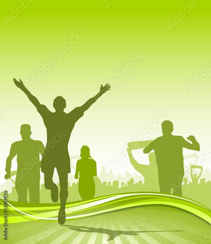 Jogger Laufsport grün