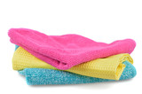 Set of cloths microfiber isolated on white